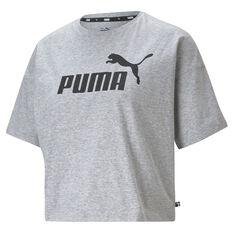 Puma Womens Essentials Logo Tee Grey XS, Grey, rebel_hi-res