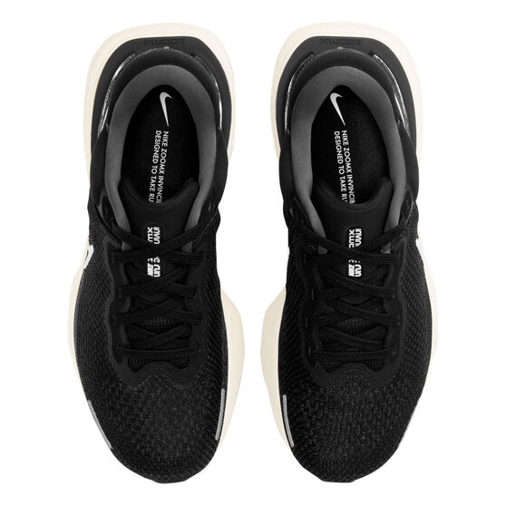 Nike ZoomX Invincible Run Flyknit Mens Running Shoes, Black/White, rebel_hi-res
