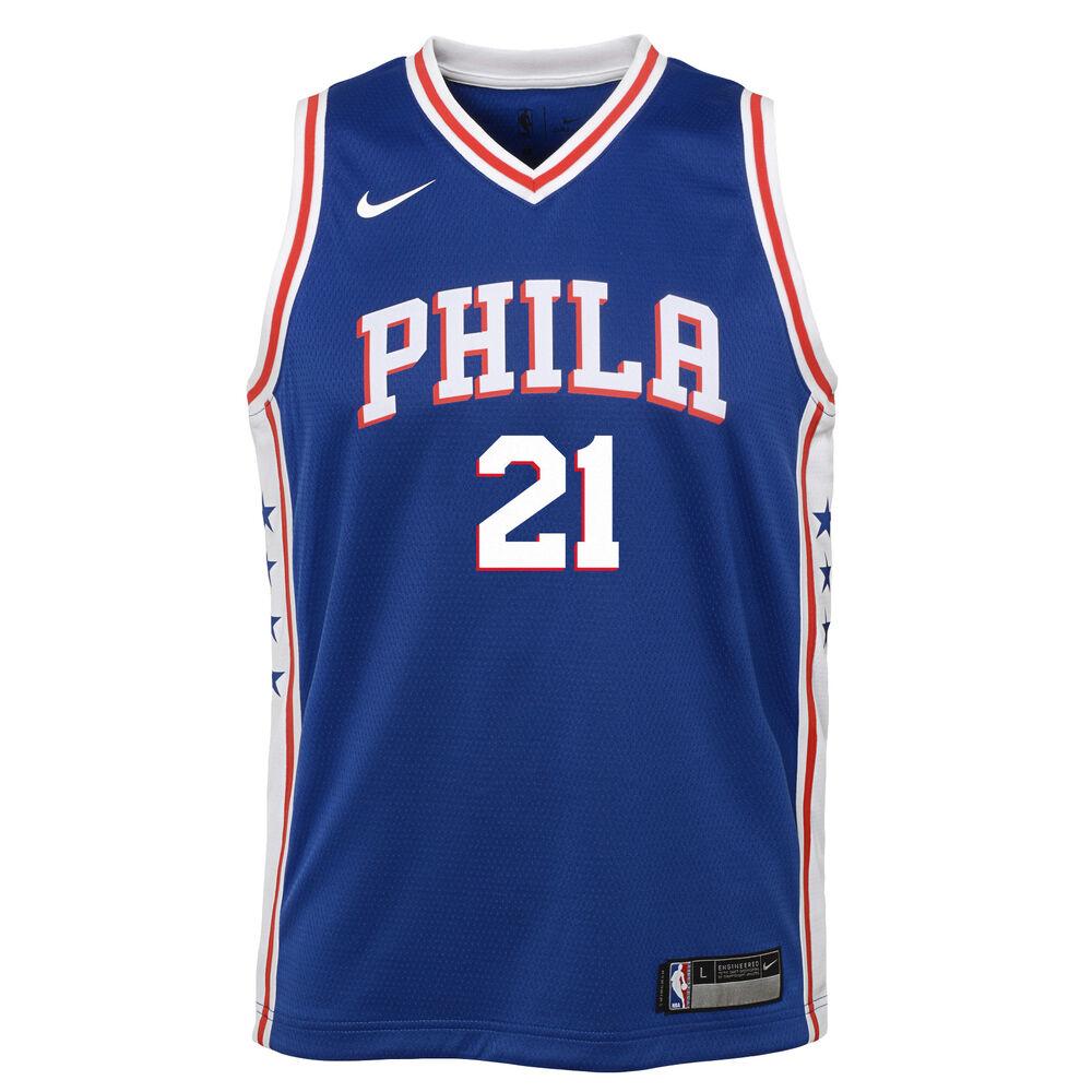 super popular d18fe e44f6 Nike Philadelphia 76ers Joel Embiid Icon 2019 Swingman Jersey