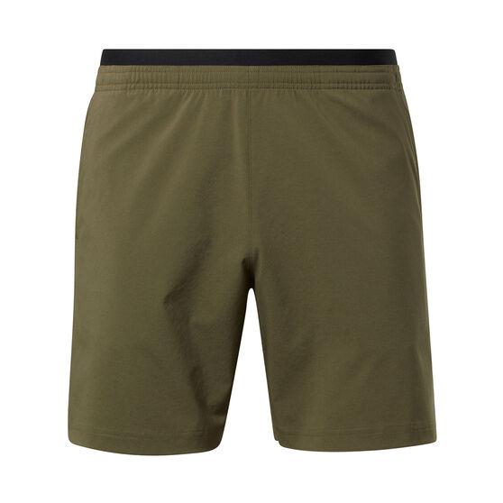 Reebok Mens United By Fitness Athlete Shorts, Khaki, rebel_hi-res