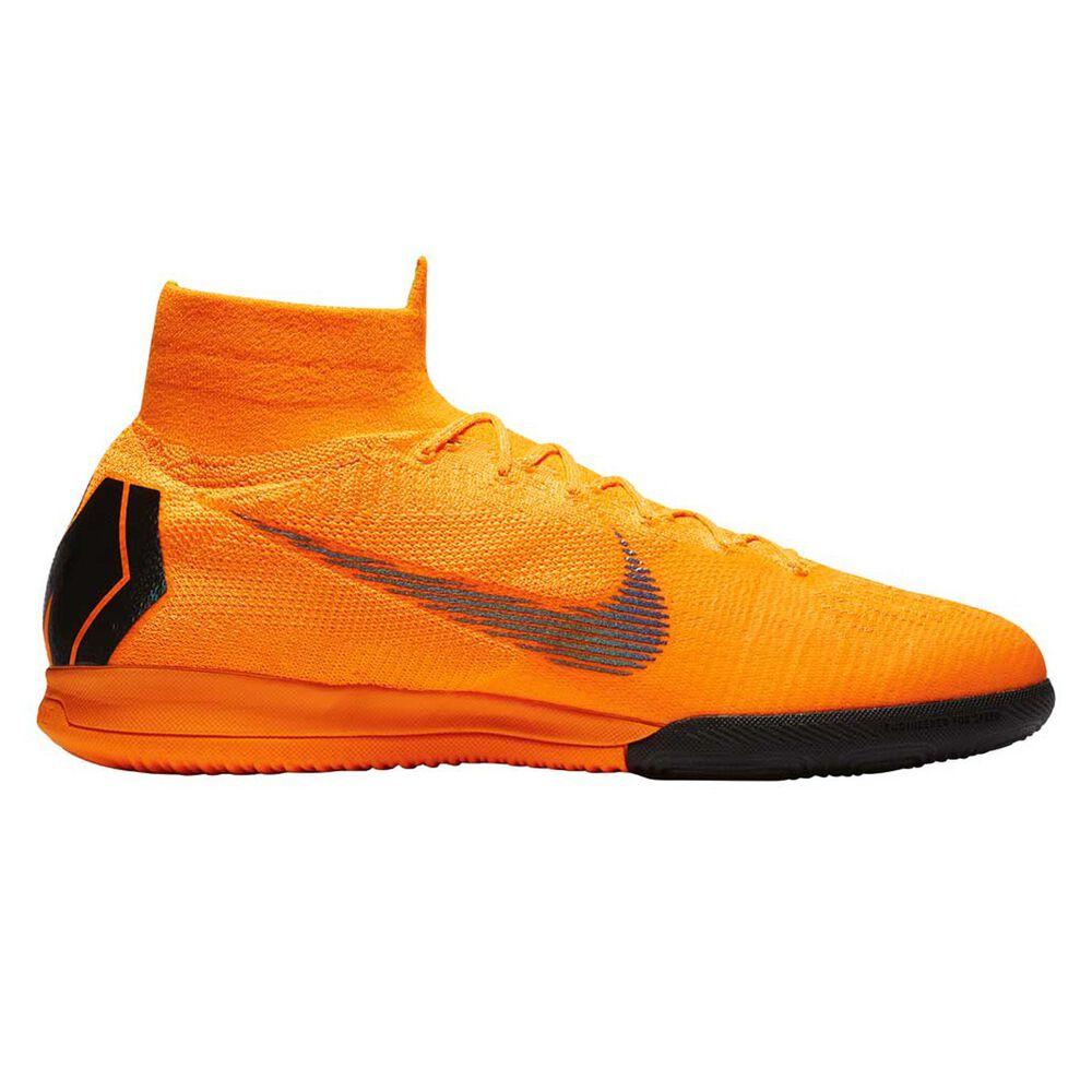 Nike Mercurial Superflyx VI Elite Mens Indoor Soccer Shoes Orange   White  US 8 Adult 201f481aca531