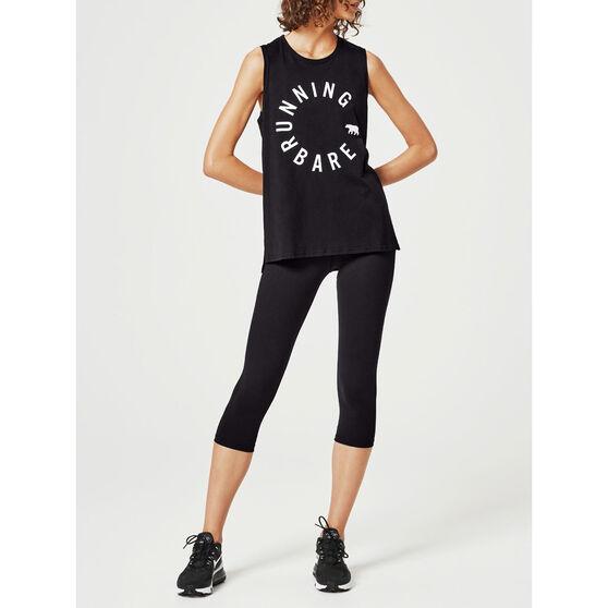 Running Bare Womens Easy Rider Muscle Tank, Black, rebel_hi-res