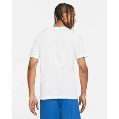 Nike Mens LeBron Logo Basketball Tee White S, White, rebel_hi-res