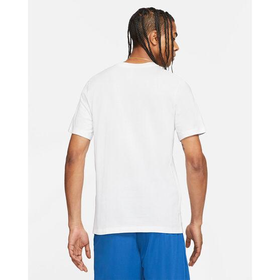 Nike Mens LeBron Logo Basketball Tee, White, rebel_hi-res