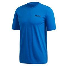 adidas Mens Essentials Plain Tee Blue S, Blue, rebel_hi-res