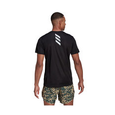 adidas Mens Fast Primeblue Running Tee Black S, Black, rebel_hi-res