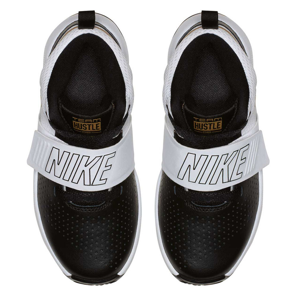 131b95261ef Nike Team Hustle D 8 Junior Boys Basketball Shoes Black   Gold US 11 ...