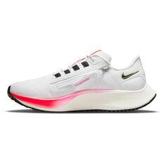Nike Air Zoom Pegasus FlyEase 38 Womens Running Shoes White/Black US 6, White/Black, rebel_hi-res