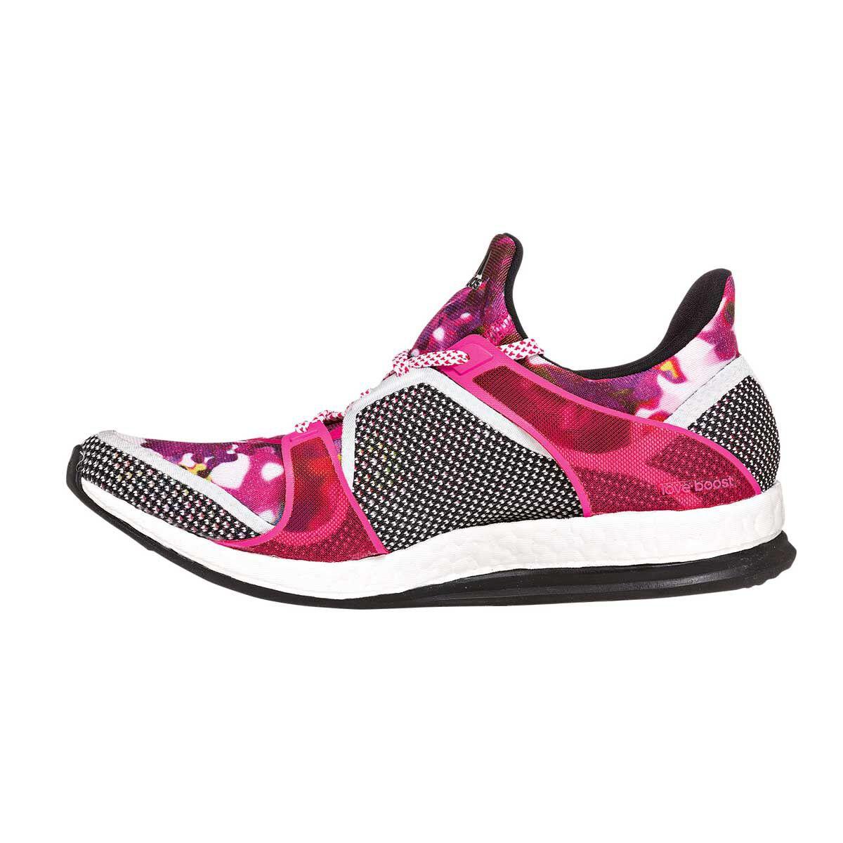adidas Pure Boost X TR W Black Pink Floral Womens Training Trainers AQ5330