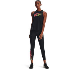 Under Armour Womens Graphic Muscle Tank, Black, rebel_hi-res