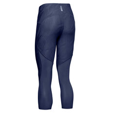Under Armour Womens Fly Fast 3/4 Tights Navy XS, Navy, rebel_hi-res