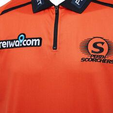 Perth Scorchers 2019/20 Mens Media Polo Orange S, Orange, rebel_hi-res