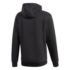 adidas Mens Fleece Hoodie Black XS, Black, rebel_hi-res