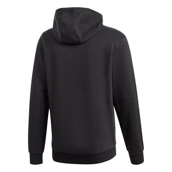 adidas Mens Fleece Hoodie, Black, rebel_hi-res