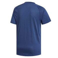 adidas Mens FreeLift Sport Prime Climalite Training Tee Blue S, Blue, rebel_hi-res