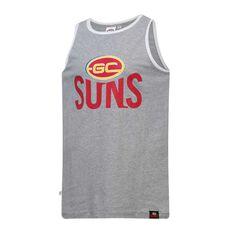 Gold Coast Suns Mens Cotton Tank Singlet, , rebel_hi-res