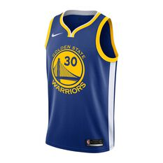 Nike Golden State Warriors Stephen Curry 2019 Mens Swingman Jersey Rush Blue S, Rush Blue, rebel_hi-res