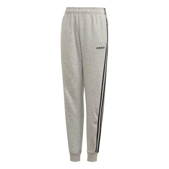 adidas Boys Essentials 3 Stripes Pants, Grey / Black, rebel_hi-res