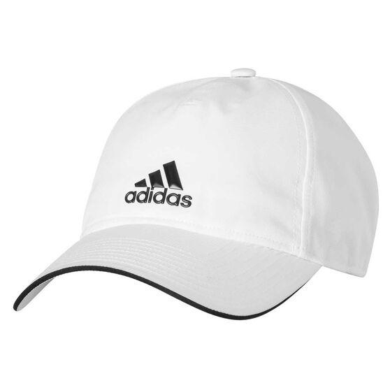 16326b07168 adidas Classic Five Panel Climalite Cap White   Black OSFM