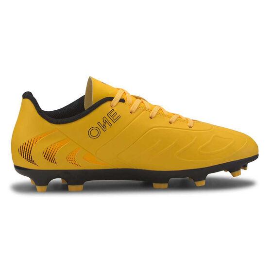 Puma One 20.4 Kids Football Shoes, Yellow / Black, rebel_hi-res
