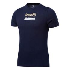 Reebok CrossFit Mens Prepare Training Tee Navy S, Navy, rebel_hi-res
