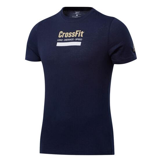 Reebok CrossFit Mens Prepare Training Tee, Navy, rebel_hi-res