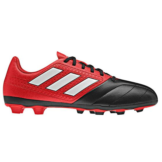 29cd0e238ab1 adidas ACE 17.4 FXG Junior Football Boots Red   White US 4 Junior ...
