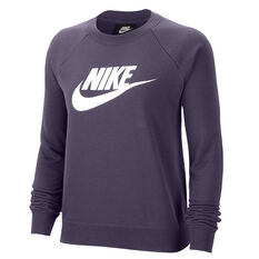 Nike Womens Sportswear Essential Fleece Sweatshirt Purple XS, Purple, rebel_hi-res