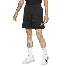 "Giannis ""Freak"" Mens Mesh Basketball Shorts Black S, Black, rebel_hi-res"