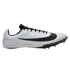 Nike Zoom Rival S 9 Mens Track Spikes White/Black US 5, White/Black, rebel_hi-res