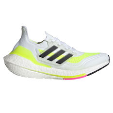 adidas Ultraboost 21 Kids Running Shoes, White/Black, rebel_hi-res