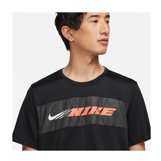 Nike Mens Dri-FIT Superset Training Tee, Black, rebel_hi-res