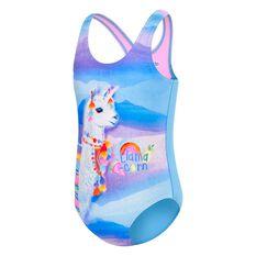 Speedo Toddler Girls Llama Corn One Piece Swimsuit Print 3, Print, rebel_hi-res