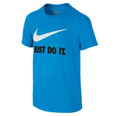 Nike Boys Just Do It Training Tee Blue / White XS, Blue / White, rebel_hi-res
