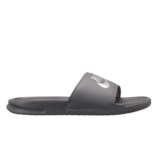 Nike Benassi Just Do It Mens Slides, Grey / Silver, rebel_hi-res