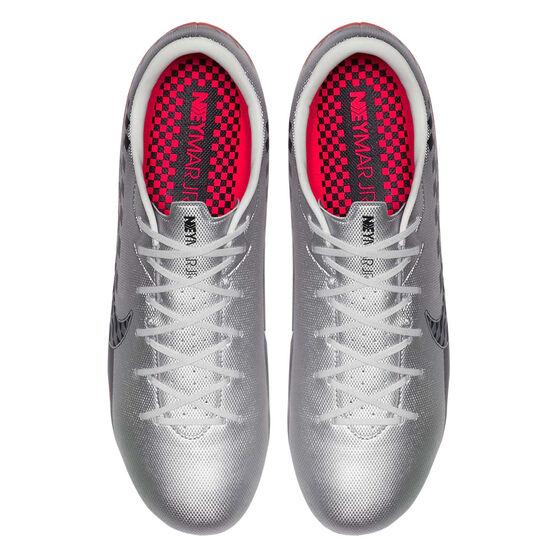 Nike Mercurial Vapor XIII Academy Neymar Jr Football Boots, Chrome / Black, rebel_hi-res