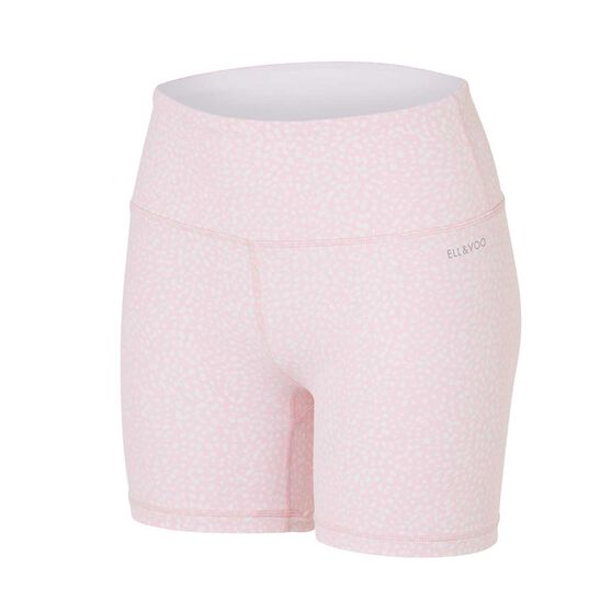 Ell & Voo Womens India 5in Printed Shorts, Pink, rebel_hi-res