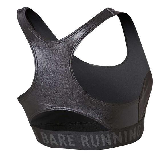 Running Bare Womens Firestarter Crop Top, Black, rebel_hi-res