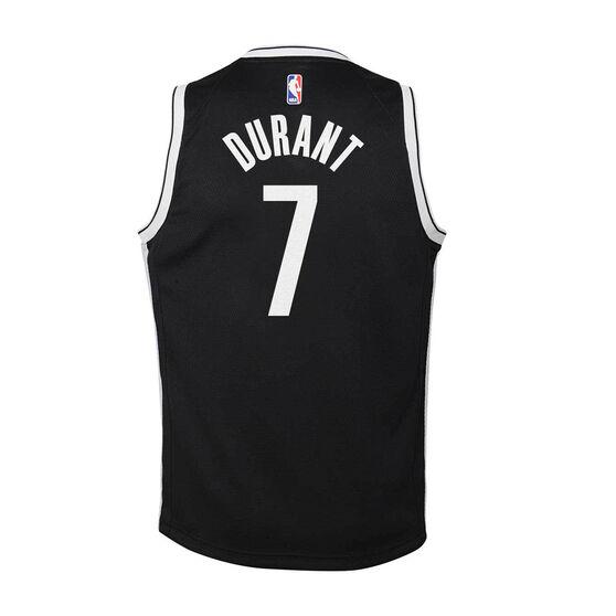 Nike Brooklyn Nets Kevin Durant 2020/21 Kids Icon Swingman Jersey, Black, rebel_hi-res