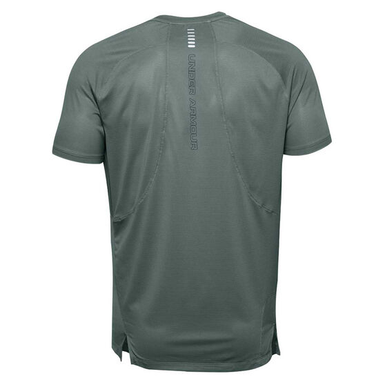 Under Armour Mens Qualifier Iso-Chill Running Tee, Blue, rebel_hi-res
