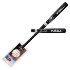 Rawlings Wooden T - Ball Bat and Ball Set, , rebel_hi-res