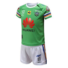 Canberra Raiders 2020 Infants Home Kit Green 1, Green, rebel_hi-res