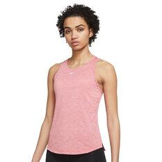 Nike Womens Dri-FIT One Standard Tank Black 1X, , rebel_hi-res