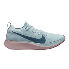 Nike Zoom Fly Flyknit Womens Running Shoes Blue / Pink US 6, Blue / Pink, rebel_hi-res