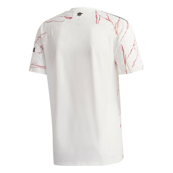 Arsenal FC 2020/21 Mens Away Jersey, White, rebel_hi-res