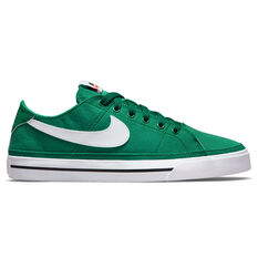 Nike Court Legacy Canvas Mens Casual Shoes Green/White US 6, Green/White, rebel_hi-res