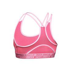 Under Armour Girls Heatgear Armour Bra Pink XS, Pink, rebel_hi-res