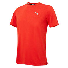 Puma Mens Heather Running Tee Orange S, Orange, rebel_hi-res