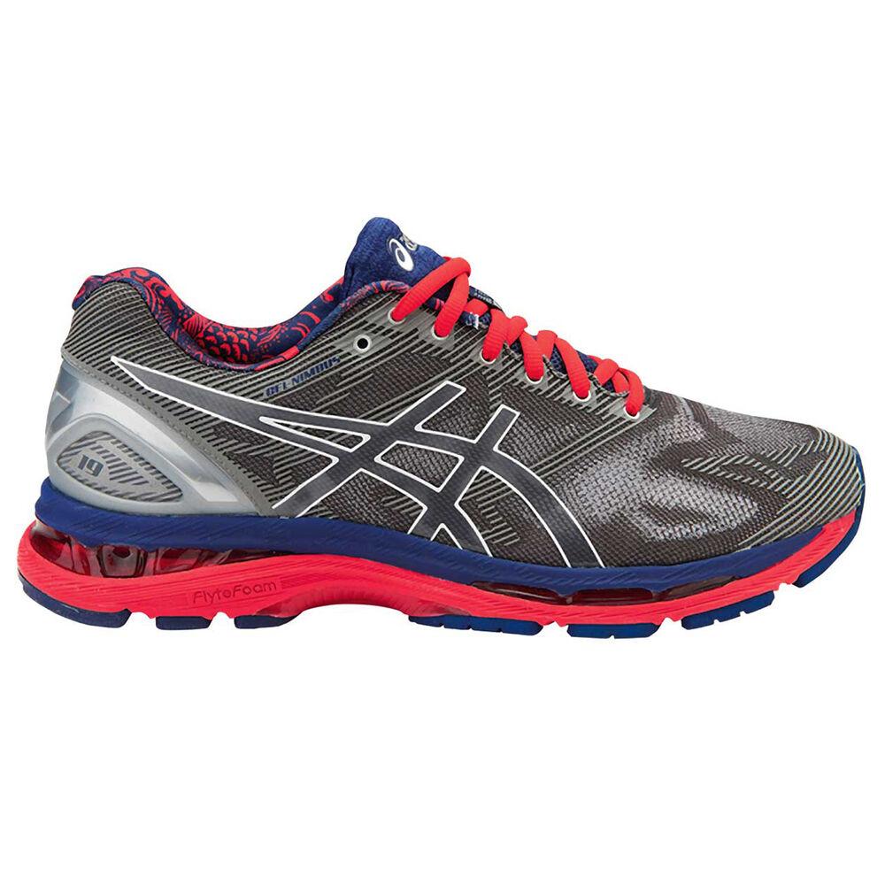 16b59f92b975 Asics Gel Nimbus 19 Lite Show Mens Running Shoes Grey / Red US 8, Grey