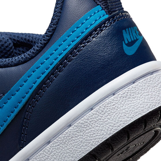 Nike Court Borough Low 2 Kids Casual Shoes, Navy, rebel_hi-res